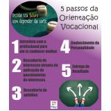 quanto custa orientação vocacional com psicólogo na Vila Clementino